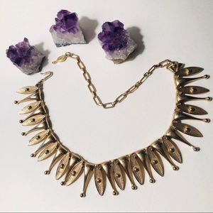 Vintage 1950's Sarah Coventry gold toned choker
